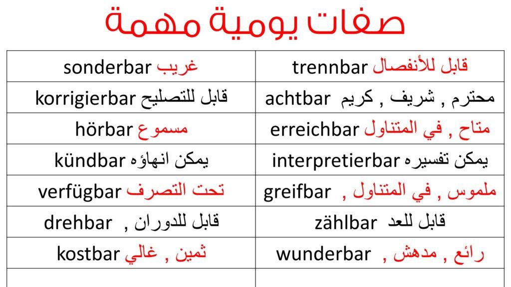 اهم الجمل اليومية القصيرة في اللغة الالمانية من الصفر